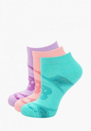 Носки 3 пары New Balance. Цвет: разноцветный