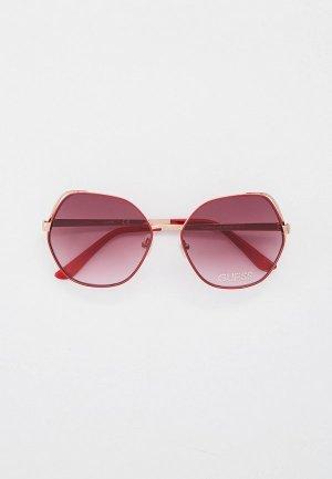 Очки солнцезащитные Guess. Цвет: бордовый
