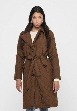 Куртка утепленная Jacqueline de Yong. Цвет: коричневый