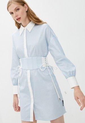 Платье Marco Bologna. Цвет: голубой