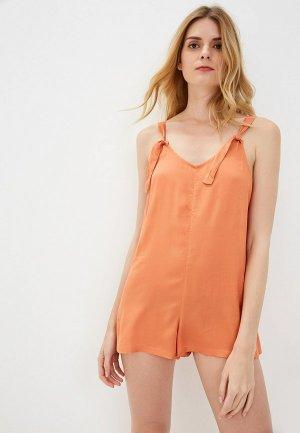 Комбинезон Roxy. Цвет: оранжевый