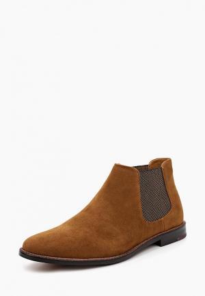 Ботинки Burton Menswear London. Цвет: коричневый