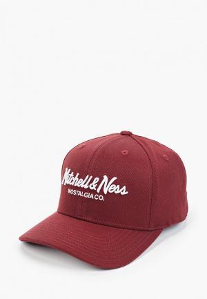 Бейсболка Mitchell & Ness. Цвет: бордовый
