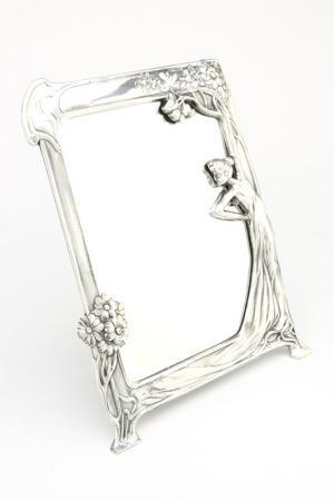 Зеркало, 25х33 см Stilars. Цвет: серебряный