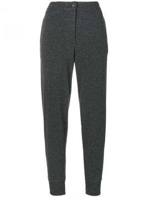 Спортивные брюки с высокой талией Jo No Fui. Цвет: серый