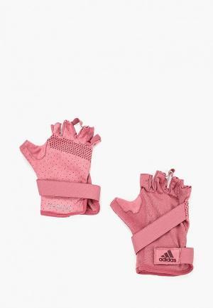 Перчатки для фитнеса adidas. Цвет: розовый