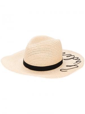 Шляпа Emmanuelle Eugenia Kim. Цвет: телесный