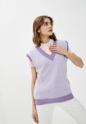 Жилет Moda Sincera. Цвет: фиолетовый