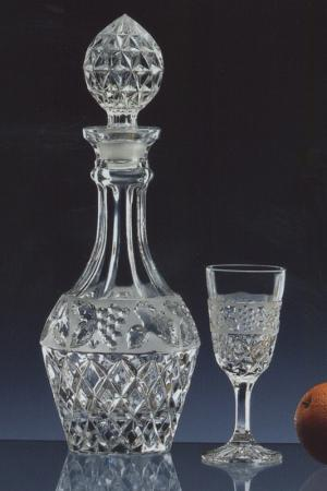 Набор для ликера, 7 шт Crystalite Bohemia. Цвет: прозрачный