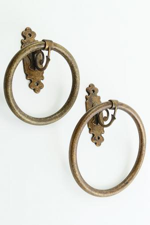 Кольцо для полотенец Stilars. Цвет: бронза