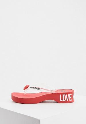 Сланцы Love Moschino. Цвет: прозрачный