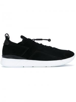 Кроссовки на эластичной шнуровке Enso. Цвет: чёрный