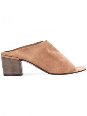 Мюли с открытым носком Del Carlo. Цвет: коричневый