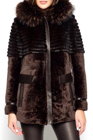 SHEEPSKIN COAT GIORGIO. Цвет: dark brown