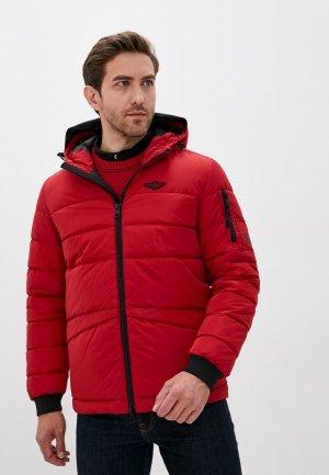 Куртка утепленная Aeronautica Militare. Цвет: красный