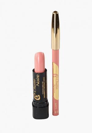 Набор для макияжа губ Chatte Noire. Цвет: розовый