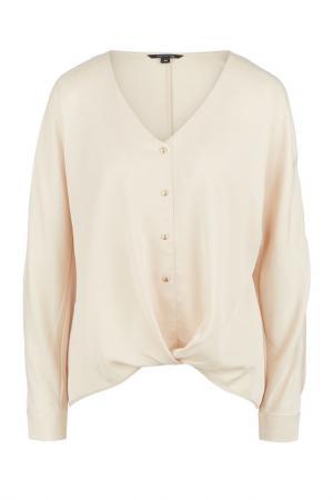 Блуза COMMA. Цвет: бежевый