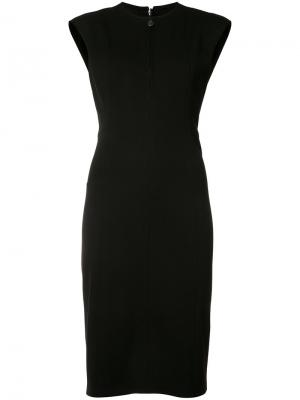 Платье-футляр с вырезом на молнии Akris Punto. Цвет: чёрный