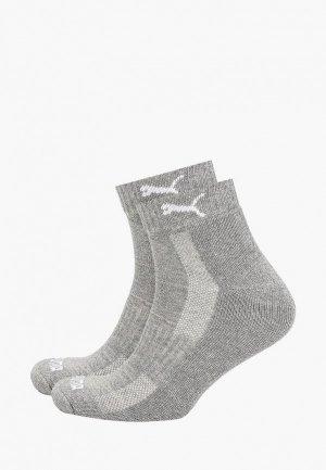 Носки 3 пары PUMA. Цвет: серый