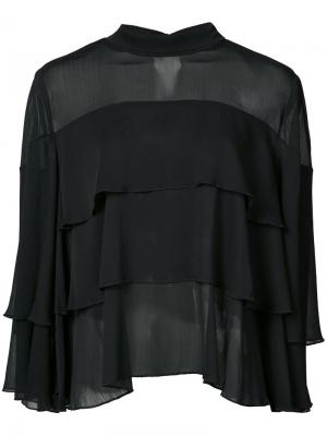 Блузка Aika Just Female. Цвет: чёрный
