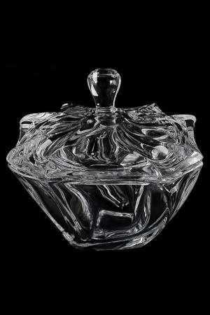 Конфетница с крышкой 19 см Crystalite Bohemia. Цвет: прозрачный