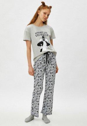 Пижама Koton. Цвет: серый