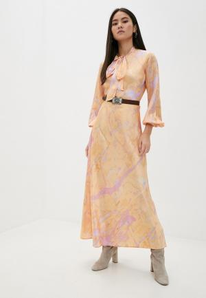 Платье Polo Ralph Lauren. Цвет: оранжевый