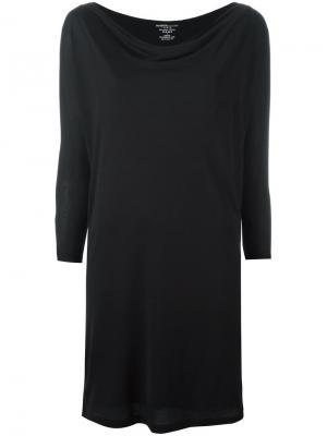 Платье с длинными рукавами Majestic Filatures. Цвет: чёрный