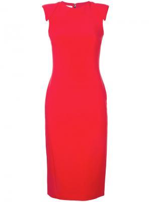 Приталенное платье со вставками на плечах Antonio Berardi. Цвет: красный