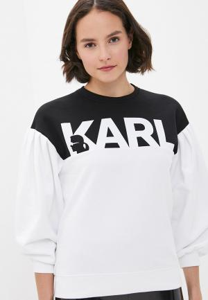 Свитшот Karl Lagerfeld. Цвет: белый