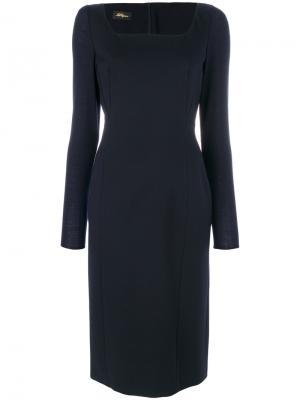 Классическое приталенное платье Les Copains. Цвет: синий