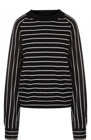 Пуловер свободного кроя из смеси шерсти и кашемира Haider Ackermann. Цвет: черно-белый