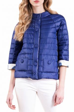 Куртка LUISA SPAGNOLI. Цвет: синий