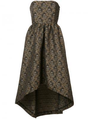 Платье-бюстье с асимметричным подолом Co. Цвет: коричневый