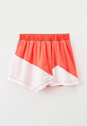 Юбка-шорты ASICS. Цвет: коралловый
