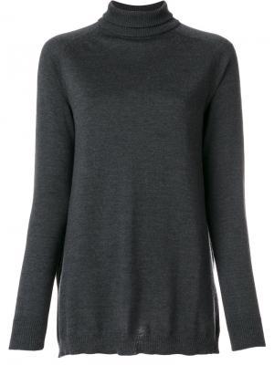 Приталенный свитер-водолазка  IM Isola Marras I'M. Цвет: серый