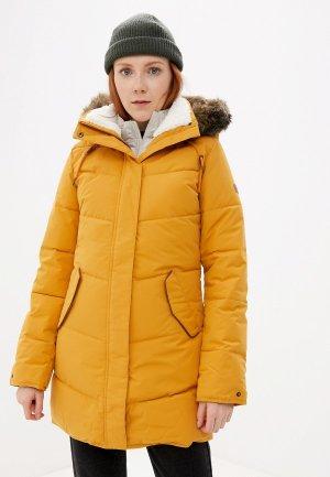 Куртка утепленная Roxy. Цвет: желтый