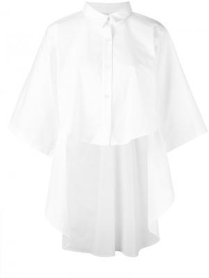 Асимметричная рубашка Lucio Vanotti. Цвет: белый