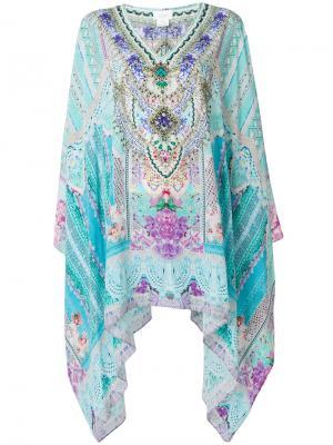 Платье с принтом Camilla. Цвет: синий