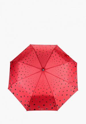 Зонт складной Flioraj. Цвет: бордовый