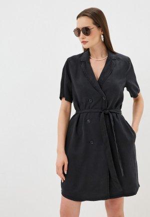 Платье Ichi. Цвет: серый