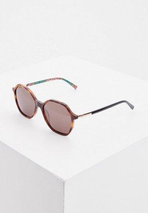 Очки солнцезащитные M Missoni. Цвет: коричневый