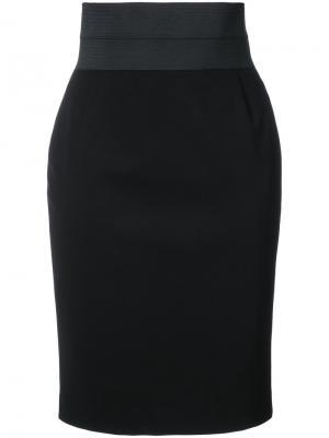 Облегающая юбка Akris Punto. Цвет: чёрный