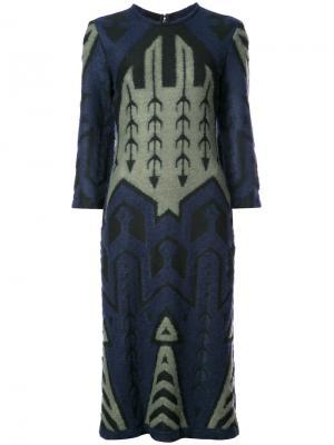 Жаккардовое платье Yigal Azrouel. Цвет: зелёный