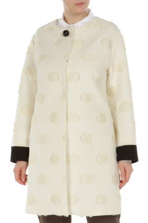 Пальто Maria Grazia Severi. Цвет: белый