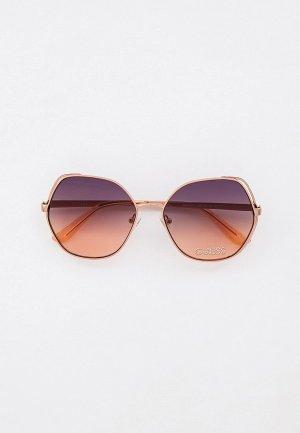 Очки солнцезащитные Guess. Цвет: бежевый