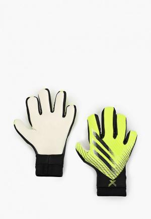 Перчатки вратарские adidas. Цвет: зеленый