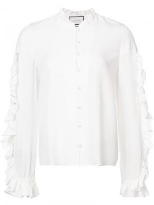 Расклешенная рубашка Rocio Alexis. Цвет: белый