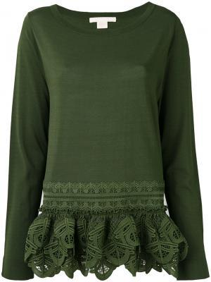 Блузка с вышивкой Antonio Berardi. Цвет: зелёный
