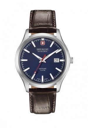 Часы Swiss Military Hanowa. Цвет: коричневый